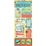 Bo Bunny Press - Ad Lib Collection - Cardstock Stickers - Party On!