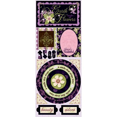 Bo Bunny Press - Jazmyne Collection - Cardstock Stickers - Simply Beautiful, CLEARANCE