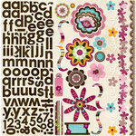 Bo Bunny Press - Sophie Collection - 12 x 12 Cardstock Stickers - Sophie Combo