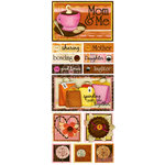 Bo Bunny Press - Delilah Collection - Cardstock Stickers - Spending Time
