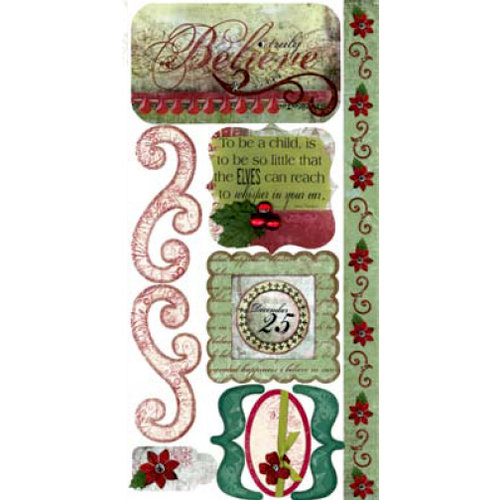 Bo Bunny Press - Believe Collection - Cardstock Stickers - Truly Believe