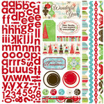 Bo Bunny Press - Tis The Season Collection - Christmas - 12 x 12 Cardstock Stickers - Tis The Season Combo, CLEARANCE