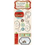 Bo Bunny Press - Blitzen Collection - Christmas - Cardstock Stickers - White Christmas