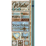 Bo Bunny Press - Winter Whisper Collection - Cardstock Stickers - Winter Fun, BRAND NEW