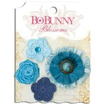 Bo Bunny - Blossoms - Dahlia - Denim Blue
