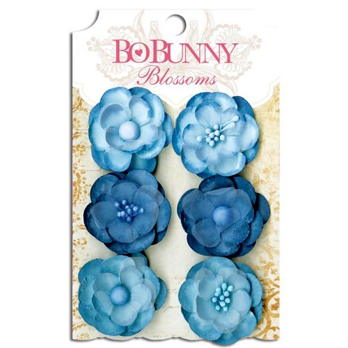 Bo Bunny - Blossoms - Pansy - Denim Blue