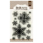 Bo Bunny - Clear Acrylic Stamps - Snowflakes