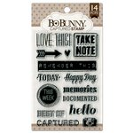 Bo Bunny - Clear Acrylic Stamps - Captured