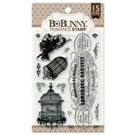 Bo Bunny - Clear Acrylic Stamps - Romance