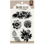 Bo Bunny - Clear Acrylic Stamps - Floral