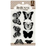 Bo Bunny - Clear Acrylic Stamps - Flutter