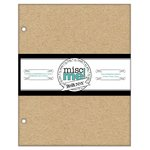Bo Bunny - Misc Me Collection - 8 x 9 Chipboard Inserts