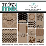 Bo Bunny - Misc Me Collection - Pocket Squares - Kraft