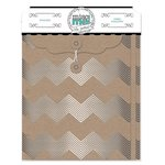 Bo Bunny - Misc Me Collection - Envelopes - Silver and Kraft