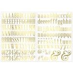 Bo Bunny - Foil Rub Ons - Alphabet - Gold
