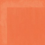Bo Bunny - Double Dot Collection - 12x12 Double Sided Cardstock Paper - Tangerine
