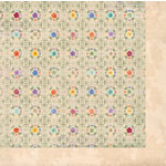 Bo Bunny Press - Ambrosia Collection - 12 x 12 Double Sided Paper - Pansies