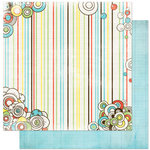Bo Bunny Press - Ad Lib Collection - 12 x 12 Double Sided Paper - Stripe