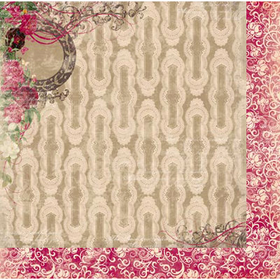 Bo Bunny Press - Ambrosia Collection - 12 x 12 Double Sided Paper - Roses