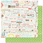 Bo Bunny Press - Ad Lib Collection - 12 x 12 Double Sided Paper - Verbiage
