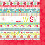 Bo Bunny Press - Alora Collection - 12 x 12 Double Sided Paper - Wish