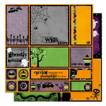 Bo Bunny Press - Boo Crew Collection - Halloween - 12 x 12 Double Sided Paper - Boo Crew Cut Outs