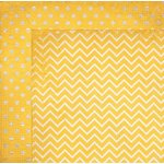 Bo Bunny - Double Dot Designs Collection - 12 x 12 Double Sided Paper - Chevron - Buttercup