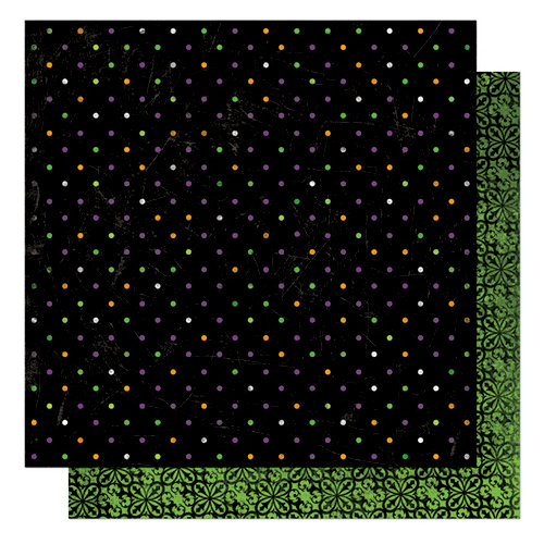 Bo Bunny Press - Boo Crew Collection - Halloween - 12 x 12 Double Sided Paper - Boo Crew Dot, CLEARANCE