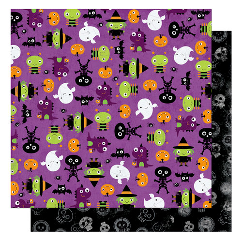 Bo Bunny Press - Boo Crew Collection - Halloween - 12 x 12 Double Sided Paper - Boo Crew Ghoul Friends