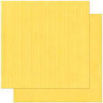 Bo Bunny Press - Double Dot Designs Collection - 12 x 12 Double Sided Paper - Stripe - Buttercup