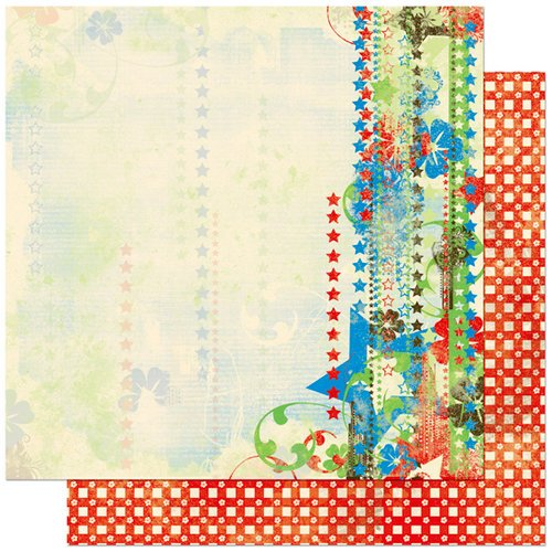 Bo Bunny Press - Block Party Collection - 12 x 12 Double Sided Paper - Block Party Fireworks