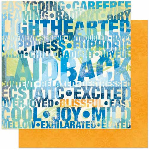 Bo Bunny Press - Barefoot and Bliss Collection - 12 x 12 Double Sided Paper - Laid Back