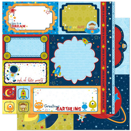 Bo Bunny Press - Blast Off Collection - 12 x 12 Double Sided Paper - Cut Outs