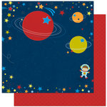 Bo Bunny Press - Blast Off Collection - 12 x 12 Double Sided Paper - Orbit