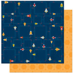 Bo Bunny - Blast Off Collection - 12 x 12 Double Sided Paper - Arcade