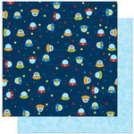 Bo Bunny Press - Blast Off Collection - 12 x 12 Double Sided Paper - U.F.O.