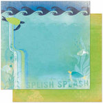 Bo Bunny Press - Barefoot and Bliss Collection - 12 x 12 Double Sided Paper - Splash