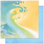 Bo Bunny Press - Barefoot and Bliss Collection - 12 x 12 Double Sided Paper - Surf