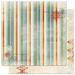 Bo Bunny - Blitzen Collection - Christmas - 12 x 12 Double Sided Paper - Stripe