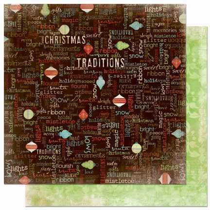 Bo Bunny Press - Blitzen Collection - Christmas - 12 x 12 Double Sided Paper - Sentiment