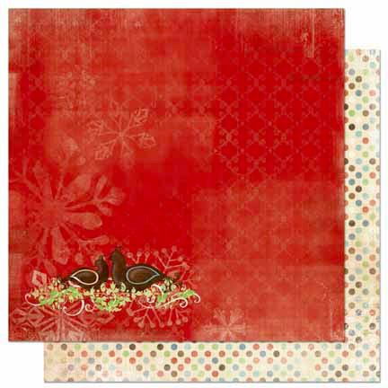 Bo Bunny - Blitzen Collection - Christmas - 12 x 12 Double Sided Paper - Turtle Doves
