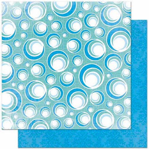 Bo Bunny Press - Barefoot and Bliss Collection - 12 x 12 Double Sided Paper - Bubbles