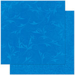 Bo Bunny Press - Double Dot Designs Collection - 12 x 12 Double Sided Paper - Flourish - Blueberry