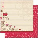 Bo Bunny Press - Crazy Love Collection - Valentine - 12 x 12 Double Sided Paper - Crazy Love