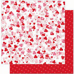 Bo Bunny Press - Crush Collection - Valentine - 12 x 12 Double Sided Paper - Crush Cutie Pie