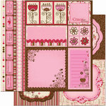 Bo Bunny Press - Crazy Love Collection - Valentine - 12 x 12 Double Sided Paper - Crazy Love Cut Outs