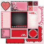 Bo Bunny Press - Crush Collection - Valentine - 12 x 12 Double Sided Paper - Crush Cut Outs