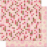 Bo Bunny Press - Crazy Love Collection - Valentine - 12 x 12 Double Sided Paper - Crazy Love Dot