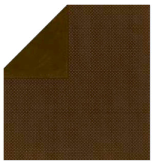 Bo Bunny Press - Double Dot Paper - 12 x 12 Double Sided Paper - Coffee Dot