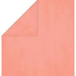 Bo Bunny Press - Double Dot Paper - 12 x 12 Double Sided Paper - Coral Dot, CLEARANCE